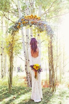 Bare and Beautiful. Gorgeous wedding photo bouquet and flowers