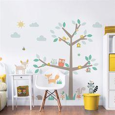 Väggdekor Walltastic Skogens Träd och Vänner 44647