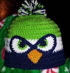 Crochet Seahawks beanie