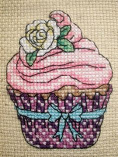 Cupcake Cross Stitch by ElockaCreations on Etsy