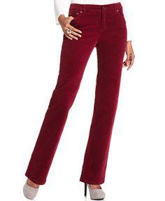 Charter Club Petite Straight-Leg Corduroy Pants