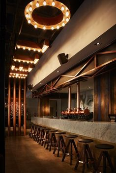 Gallery of 2016 Restaurant & Bar Design Awards Announced - 19 2016 Restaurant & Bar Design Awards Announced,News Cafe (Johannesburg, South Africa) / Studio A. Image Courtesy of The Restaurant & Bar Design Awards Cafe Restaurant, Restaurant Lighting, Bar Lighting, Lighting Design, Office Lighting, Modern Restaurant, Restaurant Ideas, Ceiling Lighting, Lighting Ideas