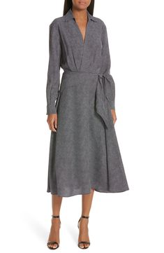 ecf5514aa85e Save the Equipment Vivienne Faux Wrap Midi Dress