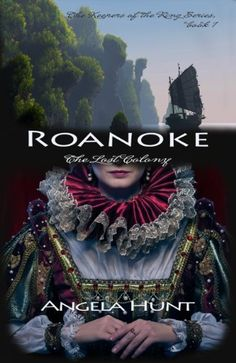 Roanoke (The Keepers of the Ring Book 1) by Angela Hunt, http://www.amazon.com/dp/B001Q3L4C8/ref=cm_sw_r_pi_dp_yunFub1AS02YZ