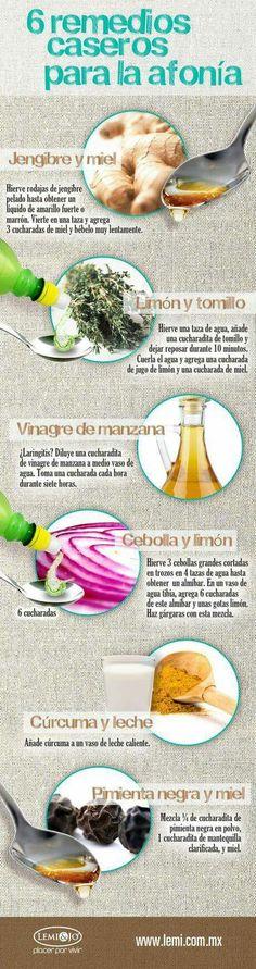 6 remedios para la afonia