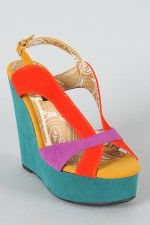 Dollhouse Fade Colorblock Slingback Wedge