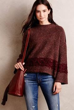 Dual toned brown sweater from Anthropology #FallFashion