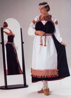 FolkCostume&Embroidery: Overview of the Folk Costumes of Europe, Finnish Costumes Around The World, Folk Clothing, Scandinavian Art, Folk Fashion, Folk Costume, Looking Gorgeous, Costumes For Women, Dance Costumes, Traditional Dresses