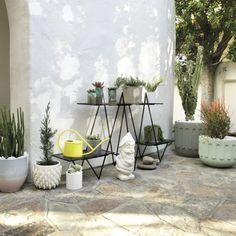 concrete pot with saucer  | CB2