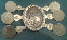 criolla rastra alpaca platada escudo replica moneda patacon