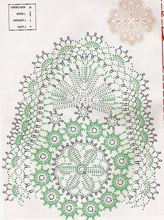 World crochet: Napkin 269 Filet Crochet, Mandala Au Crochet, Crochet Doily Diagram, Crochet Motifs, Crochet Borders, Freeform Crochet, Crochet Chart, Roses Au Crochet, Crochet Dollies