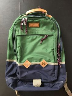Duo Chrome Green Navy Blue Tommy Hilfiger laptop backpack. Excellent  condition.  fashion  clothing  shoes  accessories  mensaccessories  bags ( ebay link) 94ee8eba3f