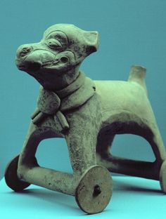 Teotihuacan wheeled toy.