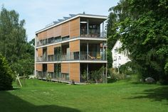 Seven garages were demolished to make way fort the first Minergie-P-Eco multifamily home in Switzerland was built within the space of one year. The..