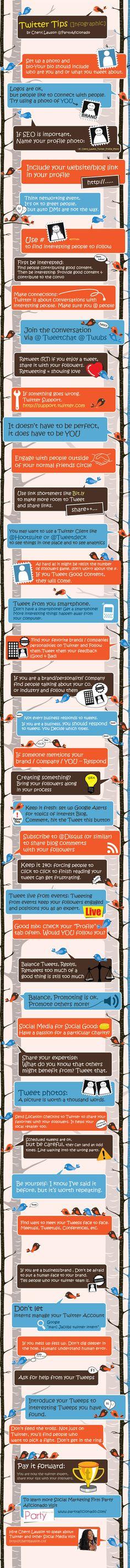 43 consejos para usar Twitter    http://www.trecebits.com/2012/03/15/43-pistas-para-sacarle-partido-a-twitter-infografia/