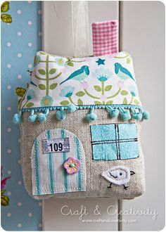 cute house pillow--  I'm going to have to make some house pillows