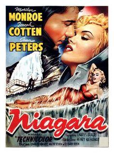 marilyn monroe movies | AP265 - Niagara, Marilyn Monroe, Movie Poster 1953 (30x40cm Art Print)