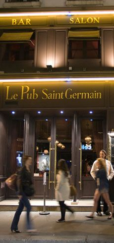 Pub Saint Germain--17 Rue de l'Ancienne Comédie--Great address to keep up your sleeve--one of the few eateries that's open 24 hours!