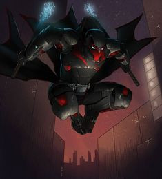 Darkhawk Urban Hunt by KaRolding on DeviantArt Superhero Characters, Fantasy Characters, Armor Concept, Concept Art, Comic Character, Character Concept, Batman Redesign, Superhero Design, Super Hero Costumes