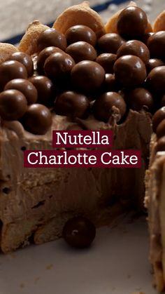 Köstliche Desserts, Delicious Desserts, Dessert Recipes, Yummy Food, Tasty, Fun Baking Recipes, Sweet Recipes, Cooking Recipes, Charlotte Cake