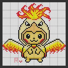 Hama Beads Pokemon, Diy Perler Beads, Perler Bead Art, Easy Perler Bead Patterns, Cross Stitch Patterns, Pokemon Cross Stitch, Pixel Beads, Cute Pikachu, Pixel Pattern