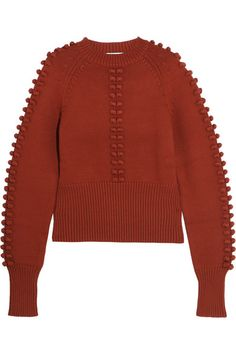 Cromoncent Girl Round Neck Lace-up Knitwear Tops Kids Sweaters