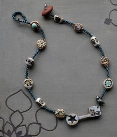 be kind Necklace with Bird and Ceramic Beads | Lorelei Eurto Jewelry