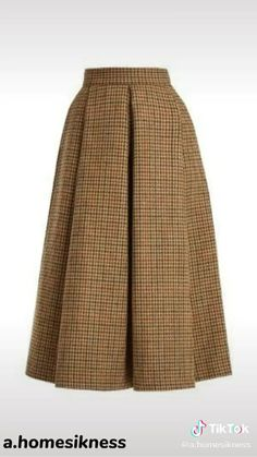 Box Pleat Skirt, Pleated Midi Skirt, High Waisted Skirt, Waist Skirt, Midi Skirts, Checkered Skirt, Houndstooth Skirt, Calf Length Skirts, Luisa Beccaria