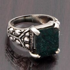 EMERADL 925 SOLID STERLING DESIGNER RING 6.30g DJR6332 #Handmade #Ring