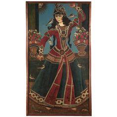 DANCING GIRL, QAJAR, PERSIA, 19TH CENTURY