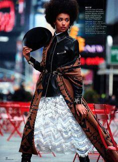Patrick Demarchelier, Anais Mali, Black Fashion Models, Glamour Magazine