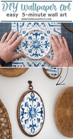 Decorating Ideas, Decor Ideas, Craft Ideas, Craft Tutorials, Diy Projects, Diy Wallart, Gold Wall Art, Spanish Tile, Diy Artwork