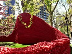ORLY GENGER, red, blue, yellow, art in public, madison square park, new york city, nyc