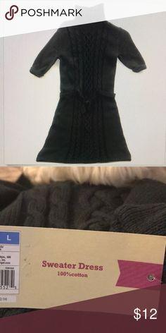 Girls sweater dress black cable knit large 10 - 12 Brand new Cherokee  sweater dress 100 3143d3caa