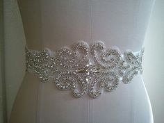 SALE - Wedding Belt, Bridal Belt, Sash Belt, Crystal Rhinestones - Style B3999C