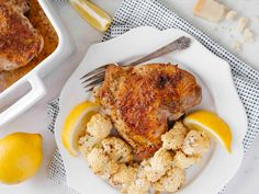 Honey Dijon Turkey Thighs with Cauliflower Turkey Thighs, Tandoori Chicken, New Recipes, Cauliflower, French Toast, Honey, Keto, Vegetables