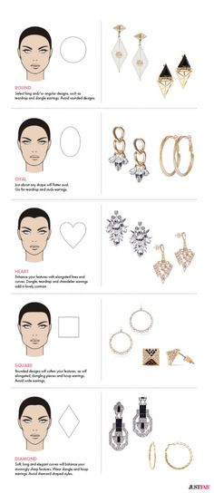 Choose #earrings that work best with your face shape with this guide! #Style #Jewellery #BeautyChat