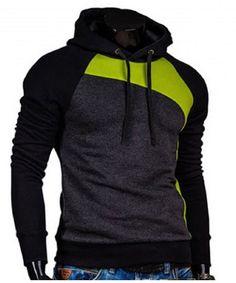 Trendy Men's Slimming Hoodies with Long Sleeves.