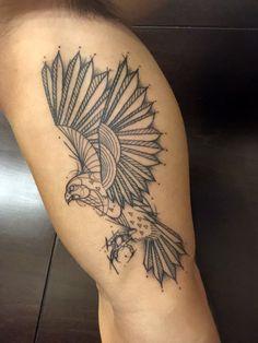 Geometric falcon tattoo