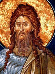 Byzantine Art, Byzantine Icons, Religious Images, John The Baptist, Orthodox Icons, Christian Art, Ancient Art, Fresco, Blessed