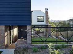 Home Vokes and Peters Brisbane Architects, Front Entrances, Residential Architecture, Design Inspiration, Design Ideas, Small Spaces, Stairs, Exterior, Outdoor Decor