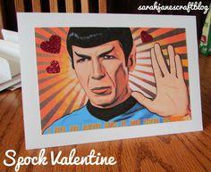 Star Trek Spock Pop Art Valentine's Day Card Craft Tutorial.