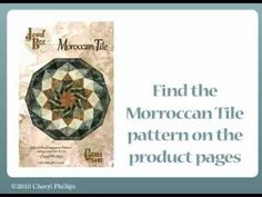 Moroccan Tile Video by Cheryl Phillips of Phillips Fiber Art, now on our YouTube Channel!
