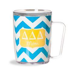 Delta Delta Delta  Chevron Mom Coffee Mug www.sassysoroity.com  #DDD #Mom