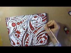 Doodle Art - Abstrakte Malerei in Acryl - YouTube