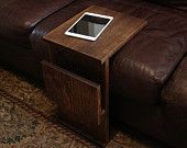 Sofa Chair Seat Cushion TV Tray Table Stand with Storage Slot for Newspaper