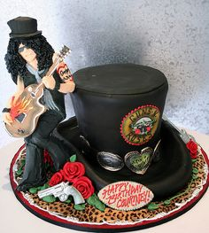 Guns n Roses cake--love this but I think mine would have Axl on it.