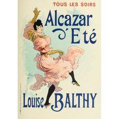 Les Affiches Illustres (1886-1895) 1896 Louise Balthy Canvas Art - Jules Chret (18 x 24)