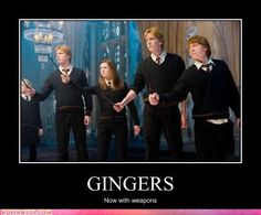 Gingers. Now with weapons.