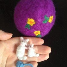Mother cat and kitten ball of wool Easter egg by ThePotOfGold
